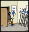 Cartoon: Sign Thief (small) by cartertoons tagged thief,crime,stealing,signs,police,criminals