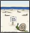 Cartoon: Snail Nude Beach (small) by cartertoons tagged snails,animals,nudity,beaches,oceans,recreational