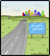Cartoon: Tetrisburgh (small) by cartertoons tagged tetris,tetrisburgh,city,cities,towns,sign,signs,road,roads,highway