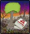 Cartoon: Tree Wig (small) by cartertoons tagged trees,forests,environmental,wigs,beauty,vanity,surreal