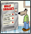 Cartoon: Wolf snacks (small) by cartertoons tagged wolf,vending,machine,fairy,tales