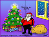 Cartoon: Santa Trek (small) by sdrummelo tagged santa clause babbo natale star trek scotty beam me up