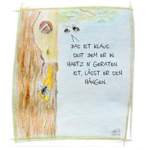 Cartoon: Har-t-z IV (medium) by swenson tagged fliegen,fly,hartz,harz