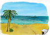 Cartoon: Strand (small) by swenson tagged strand beach sand palm palme meer sea
