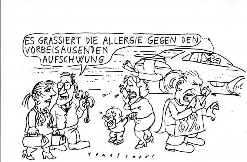 Cartoon: Allergie (medium) by Jan Tomaschoff tagged aufschwung,inflation,lebensmittelpreise