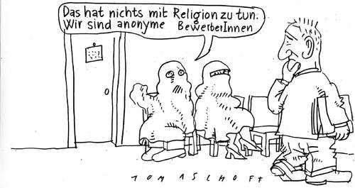 anonyme bewerbungen by jan tomaschoff politics cartoon toonpool - Anonymisierte Bewerbung