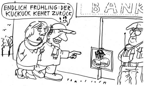 Cartoon: Banken (medium) by Jan Tomaschoff tagged banken,finanzkrise
