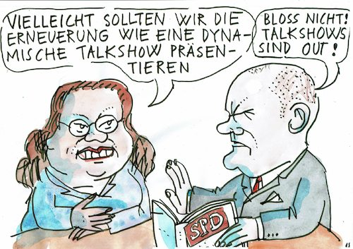 Cartoon: Erneuerung (medium) by Jan Tomaschoff tagged spd,volksparteien,spd,volksparteien