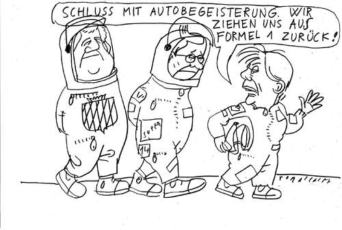 Cartoon: F1 (medium) by Jan Tomaschoff tagged autoindustrie,regierung,schwarzgelb