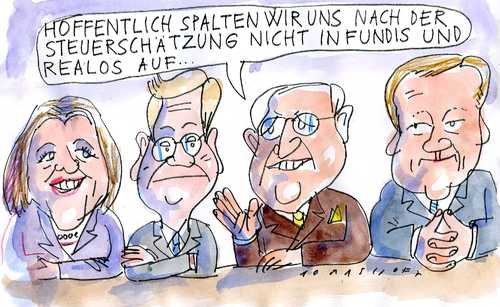Cartoon: FDP (medium) by Jan Tomaschoff tagged fdp,realos,fundis