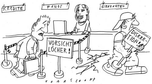 Cartoon: Finanzkrise (medium) by Jan Tomaschoff tagged finanzkrise,