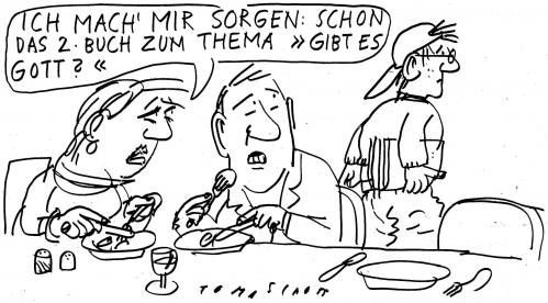 Cartoon: Gott (medium) by Jan Tomaschoff tagged schüler,schulsystem,gott