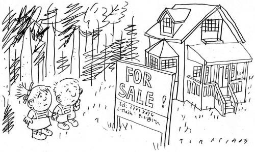 Cartoon: Immobilien (medium) by Jan Tomaschoff tagged immobilien,