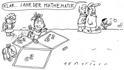 Cartoon: Jahr der Mathematik (medium) by Jan Tomaschoff tagged mathematik,bildung,education,