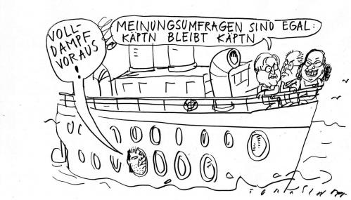 Cartoon: Kapitän (medium) by Jan Tomaschoff tagged spd,beck