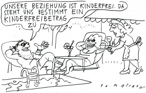 Cartoon: Kinderlose Eltern (medium) by Jan Tomaschoff tagged kinderfreibeträge