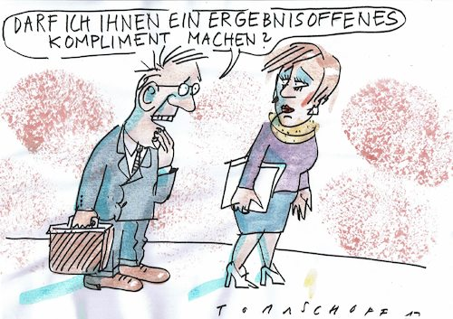 Cartoon: Kompliment (medium) by Jan Tomaschoff tagged sexismus,belästigung,flirt,sexismus,belästigung,flirt