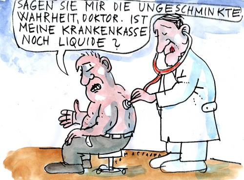 Cartoon: Krankenkasse (medium) by Jan Tomaschoff tagged krankenkasse