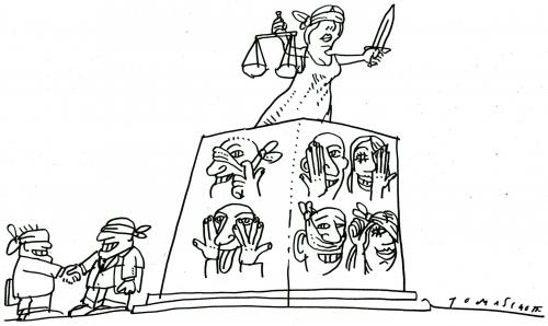 Cartoon: Law And Order (medium) by Jan Tomaschoff tagged law,order,gesetze,gericht,justitia,justice