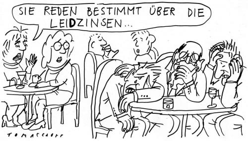 Cartoon: Leidzinsen (medium) by Jan Tomaschoff tagged zinsen,leitzinsen,