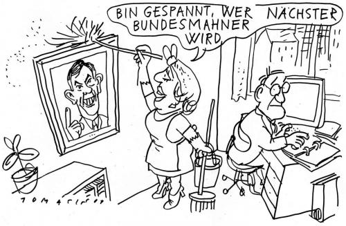 Cartoon: Mahnung (medium) by Jan Tomaschoff tagged horst,köhler