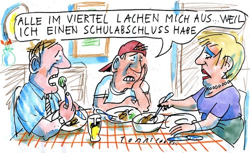 Cartoon: no (medium) by Jan Tomaschoff tagged bildung,bildung