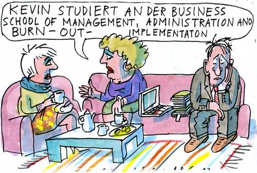 Cartoon: no (medium) by Jan Tomaschoff tagged education,burn,out,education,burn,out