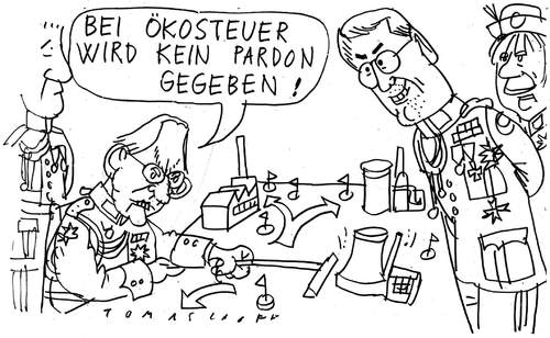 Cartoon: Ökosteuer (medium) by Jan Tomaschoff tagged ökosteuer