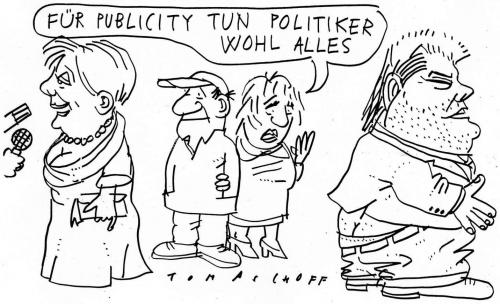 Cartoon: Political Publicity (medium) by Jan Tomaschoff tagged politiker,publicity