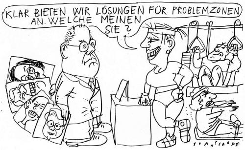 Cartoon: Problemzonen (medium) by Jan Tomaschoff tagged steinbrück