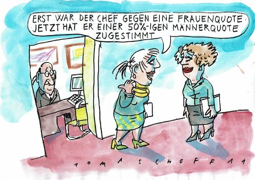 Cartoon: Quote (medium) by Jan Tomaschoff tagged quote,männer,frauen,quote,männer,frauen