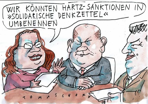 Cartoon: Sanktionen (medium) by Jan Tomaschoff tagged fordern,fördern,hartz,fordern,fördern,hartz