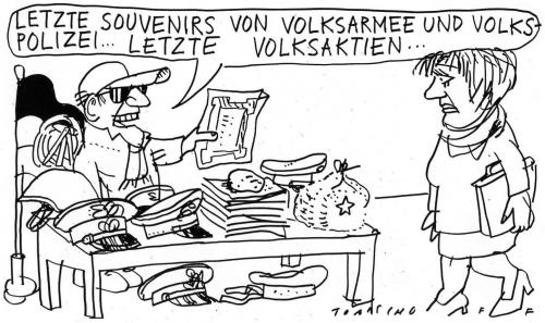Cartoon: Souvernirs (medium) by Jan Tomaschoff tagged ddr