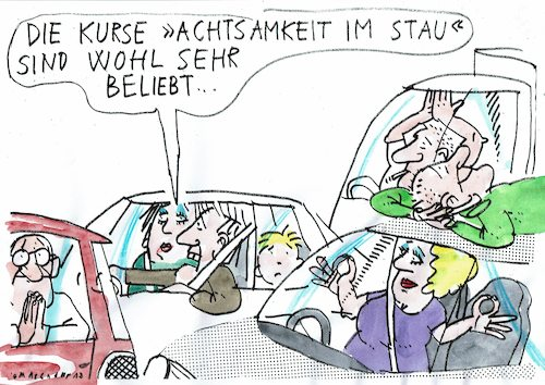 Cartoon: Stau (medium) by Jan Tomaschoff tagged stau,verkehr,auto,stress,stau,verkehr,auto,stress
