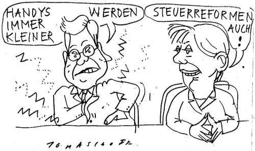 Cartoon: Steuerreform (medium) by Jan Tomaschoff tagged steuerreform