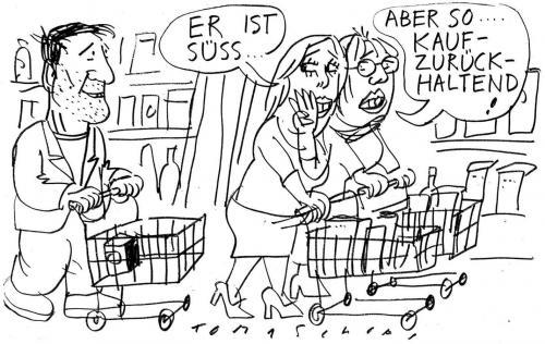 Einkaufen flirten