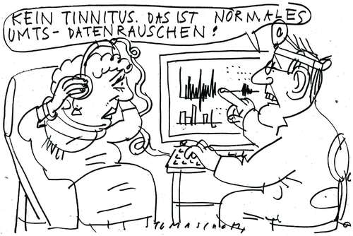 Cartoon: UMTS (medium) by Jan Tomaschoff tagged umts