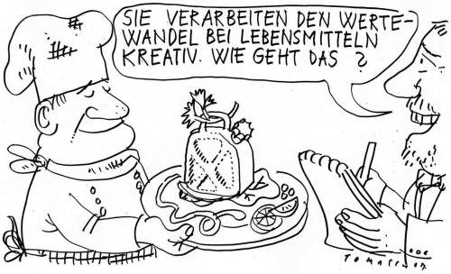 Cartoon: Wertewandel (medium) by Jan Tomaschoff tagged wertewandel