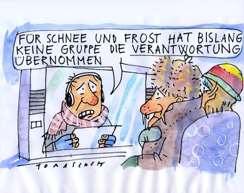 Cartoon: Winter (medium) by Jan Tomaschoff tagged winter,frost,schnee,winter,schnee,frost,wetter,klima