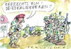 Cartoon: Deeskalationseinsatz (small) by Jan Tomaschoff tagged bundeswehr,konflikte