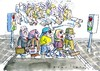 Cartoon: Dichtestress (small) by Jan Tomaschoff tagged stadt,schweiz