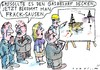 Cartoon: no (small) by Jan Tomaschoff tagged fracking