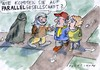 Cartoon: Parallel (small) by Jan Tomaschoff tagged parallelgesellschaft,migration