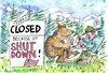 Cartoon: shut down (small) by Jan Tomaschoff tagged shut,down,national,parks