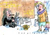 Cartoon: Strafzinsen (small) by Jan Tomaschoff tagged niedrigzinsen,strafzinsen