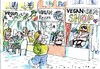 Cartoon: vegan leben (small) by Jan Tomaschoff tagged vegan