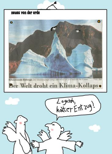 Cartoon: Fachleute unter sich (medium) by nele andresen tagged kollaps,entzug
