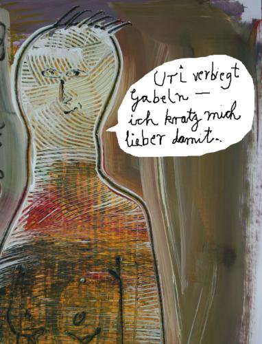 Cartoon: Gabeln (medium) by nele andresen tagged uri,geller,