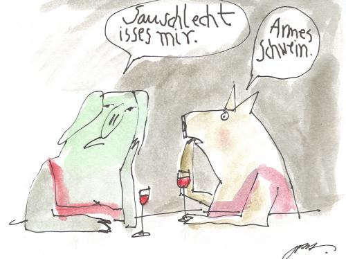 Cartoon: Sauschlecht (medium) by nele andresen tagged miese,tage,hundeübel,
