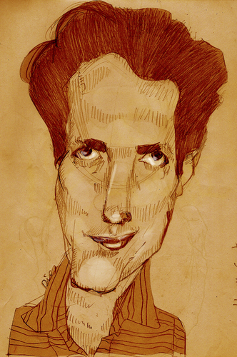 Cartoon: Hugh Grant (medium) by MRDias tagged caricature